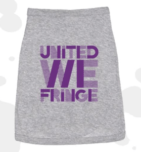 United We Fringe Dog Shirt - Grey