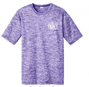Fringe Performance Tee - Purple
