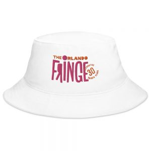 Classic Fringe Embroidered Bucket Hat - White