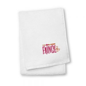 Classic Fringe Embroidered Towel - White