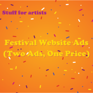 Festival Website Ads ( Two Ads for One Price )