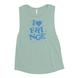"2021 Festival ""I Heart Fringe"" Ladies' Muscle Tank - Blue"